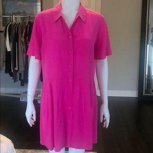 Equipment Naomi hot pink silk dress
